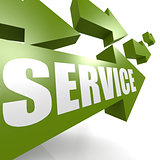 Service arrow in green