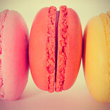 macarons, with a retro effect