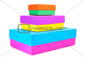 boxes of different colors