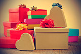 gifts, with a retro effect
