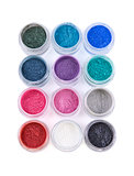 Set of colorful mineral eye shadows