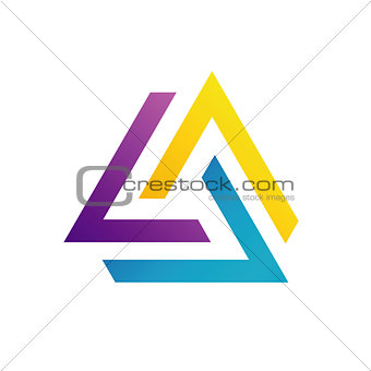 Abstract triangular colorful logo or design element