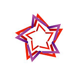 Stylized star design element for web use