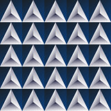 blue regular triangular background