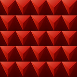 red regular triangular background