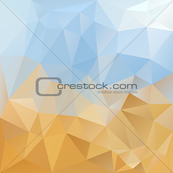 sky desert triangular background