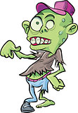 Cartoon cute zombie.Isolated