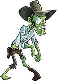Cartoon zombie cowboy