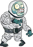Cartoon zombie astronaut