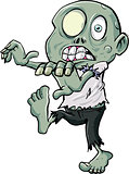 Cartoon zombie stalking