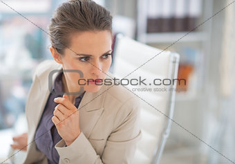 Portrait of business woman at work