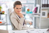 Portrait of business woman in modern office