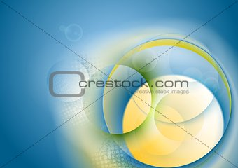 Abstract bright circles vector background