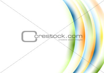 Abstract wavy colorful background