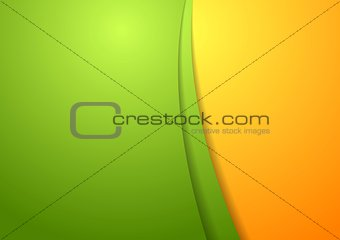Wavy bright abstract design template