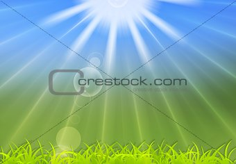 Abstract summer sunlight background