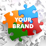 Your Brand on Multicolor Puzzle.