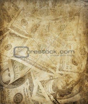 grunge dollars background