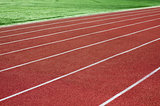 Stadium rubber running tracks