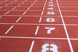 Rubber running tracks with numbers