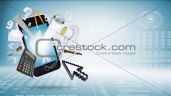 Smart phone and business objects