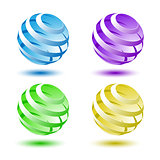 Abstract colorful 3D globe background