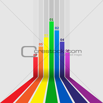 Abstract design element with colorful lines