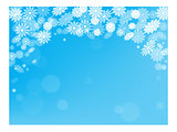 Christmas snow background postcard New year holiday