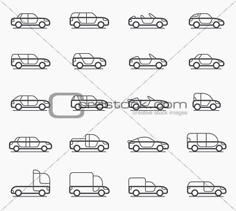 Car body types icons