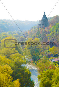 Potter Tower in the Ancient City of Kamyanets-Podilsky