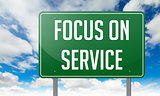 Focus on Service - Highway Signpost.