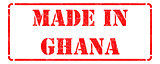 Made in Ghana on Rubber Stamp.