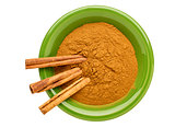 cinnamon (cassia)  powder and sticks