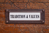 tradition and values - file cabinet label
