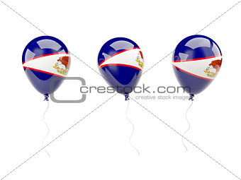 Air balloons with flag of american samoa