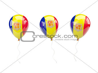 Air balloons with flag of andorra