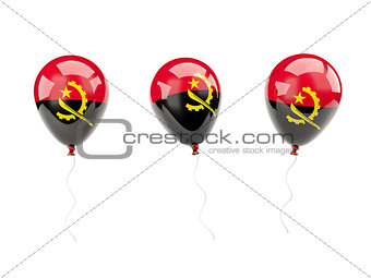 Air balloons with flag of angola