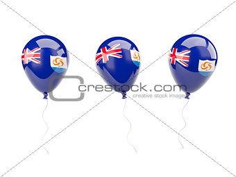 Air balloons with flag of anguilla