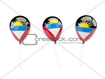 Air balloons with flag of antigua and barbuda