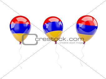 Air balloons with flag of armenia