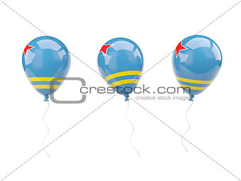 Air balloons with flag of aruba