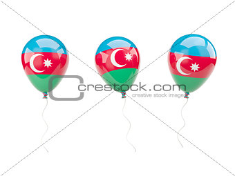Air balloons with flag of azerbaijan
