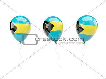 Air balloons with flag of bahamas