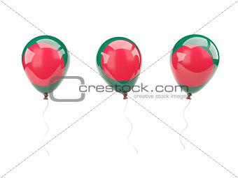 Air balloons with flag of bangladesh
