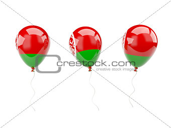 Air balloons with flag of belarus
