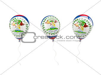 Air balloons with flag of belize