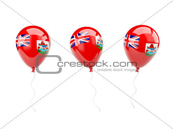 Air balloons with flag of bermuda