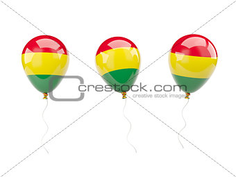 Air balloons with flag of bolivia