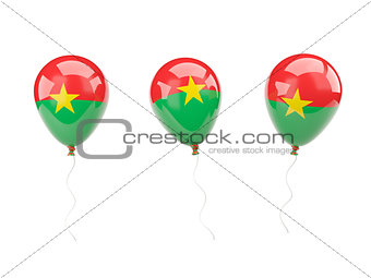 Air balloons with flag of burkina faso