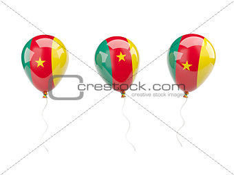 Air balloons with flag of cameroon